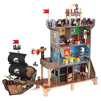 Pirate Cove Playset KidKraft 3 Primary Pieces 4 Molded Pirates Pretend Play