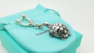 Rare Tiffany & Co Sterling Silver Turtle Shackle Keychain