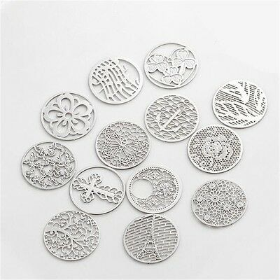 5pcs 22mm Floating charm Locket silver plate disc for 30mm living memory lockets