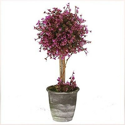 Lifelike Fake Artificial Purple Flowers Tree Plant with Pot 30cm Indoor Outdoor