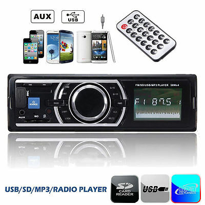 Car Auto Stereo Audio In-Dash Aux Input Receiver SD USB MP3 WMA FM Radio Player