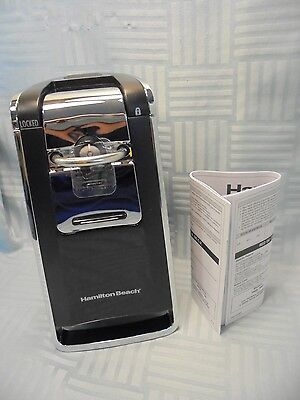 Hamilton Beach 76606za Smooth Touch Can Opener Black and Chrome W1