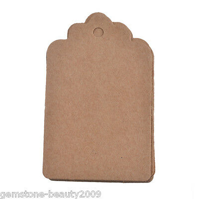 GB 1Set/100PC Kraft Paper Tag Blank Price Hang Wedding Party Decoration 5x3cm