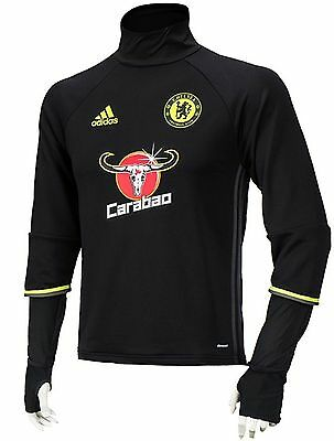 0bd17ce00f468 NWT Adidas Men Chelsea Climacool Top Jersey L/S Tee Soccer Black Shirts  AP5637