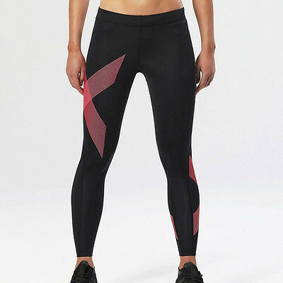 2XU TR2 Womens Black Compression Fitness Long Tights Sports Bottoms Pants