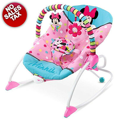 Newborn Baby Swing Seat Infant Toddler Rocker  Toys Chair Minnie Portable NO TAX