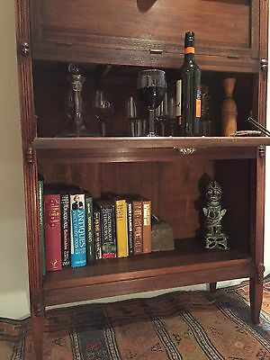 Edwardian Lawyers Barristers Bookcase Shelves Cupboard.