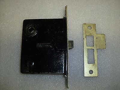Antique Vintage 'Skillman' Mortise Latch Door lock & Brass strike face lot