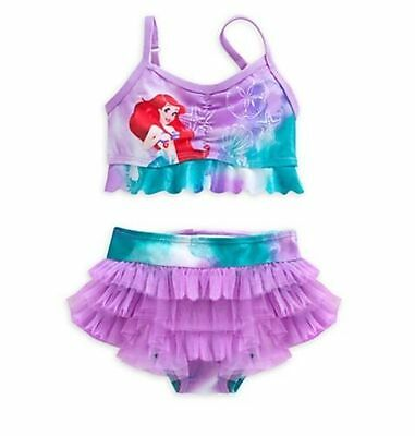 NWT Disney Store Princess Ariel 2 pc Swimsuit Little Mermaid 5/6, 7/8 Girls