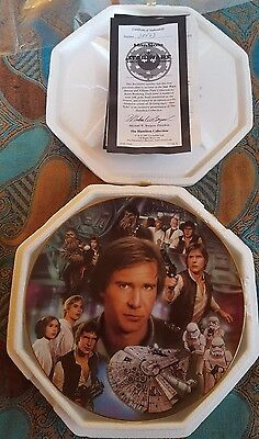 Star Wars Hamilton Collection Heroes and Villains Han Solo Plate