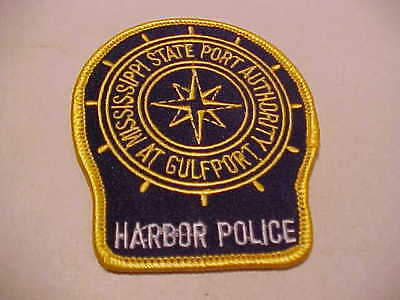 Mississippi State Harbor Gulfport Police  Patch  Unused 3 1/2 X 3 Inch