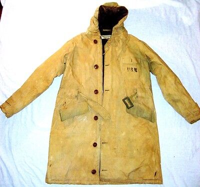 WWII US Navy Chief Torpedoman's Mate Submariner Deck Jacket Coat Alpaca CTM E7