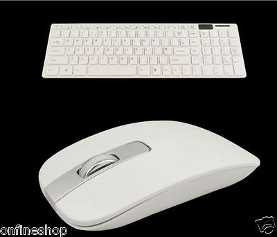 Slim 2.4GHz Cordless Wireless Keyboard and Mouse Set For PC Desktop Laptop Lot