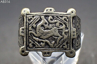 Stunning Royal Old Roman Intaglio Deer Silver Mix Ring Us Size 10 #316