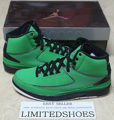 finest selection 507fa 88ade Nike Air Jordan 2 Ii Retro Qf Candy Pack Classic Green Black 395709-301 Us