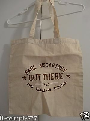 Paul Mccartney 2013 Out There Tour Canvas Tote Bag