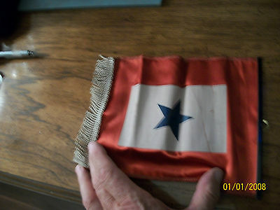ww 11 son in service flag with frindge on bottom