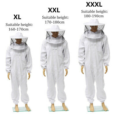 Beekeeping Beekeepers Bee Full Body Protection Suit with Removable Veil Hat Hood