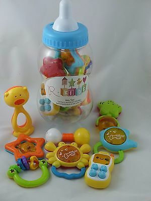 8 PC Baby Rattle, Teether and Toy Set from R-Kids