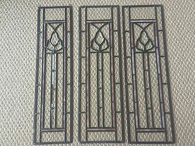 Set of 3 Beveled Stained Glass Door Sidelights Window Hangings