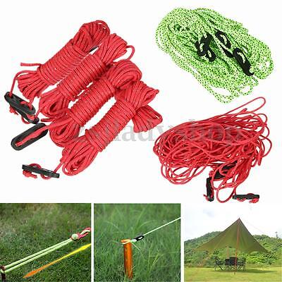 4Pcs 16m Reflective Cord Guy Line Rope for Camping Canopy Tent Tarp Paracord
