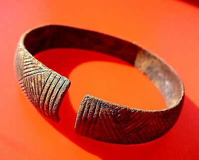 Ancient Viking Bronze Bracelet