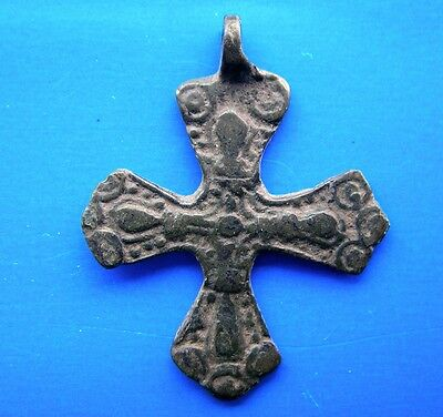 Ancient Viking Bronze Pendant Cross RARE!!!!