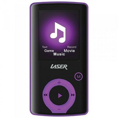 Laser MP3 Media Player L50 1.8 TFT SD Card Slot Purple - 4GB