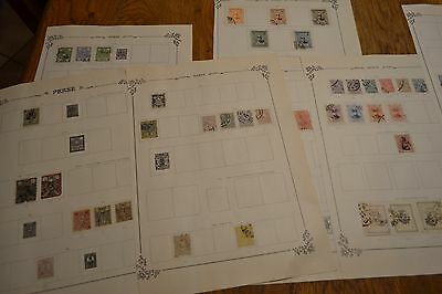 lot timbres anciens pages albums perse 1876/1930 persia