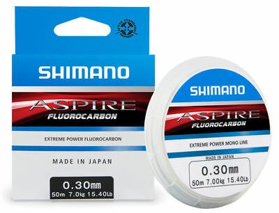 Shimano Aspire Fluorocarbon Line - 50m Spool - All Breaking Strains