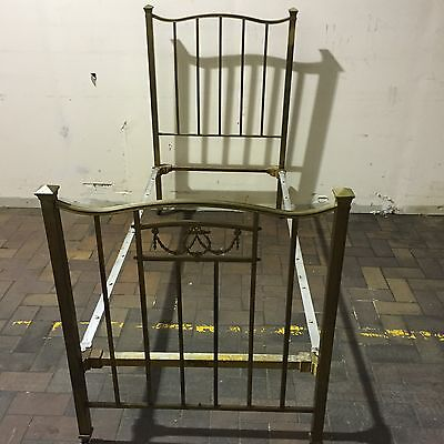 Antique Brass Single Bed And Sprung Base Simple Cottage Urban Delight