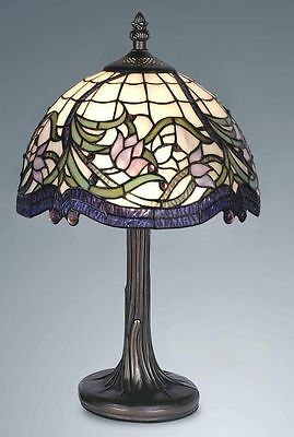 Stunning Tiffany Style Handcrafted Table / Bedside Lamp ( IDEAL CHRISTMAS GIFT)