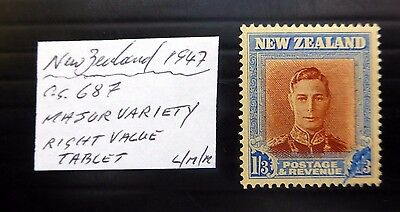 NEW ZEALAND 1947 G.VI - 1/3 Tablet Variety As Described YZ926