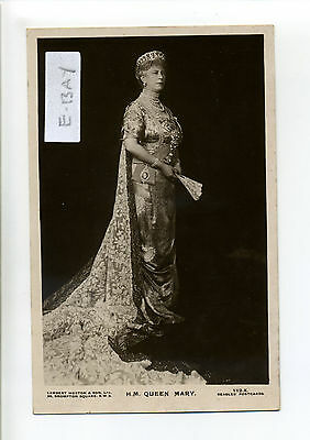 British Royalty, RPPC real photo, Queen Mary (of Teck) with fan