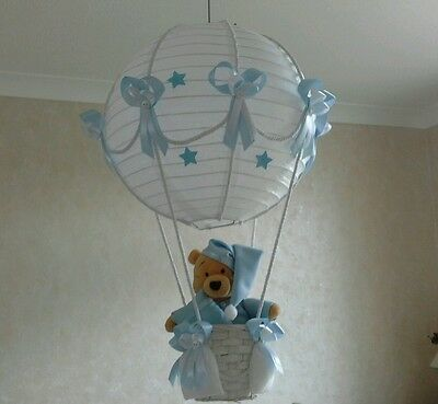 Winnie the Pooh In Hot Air Balloon light lamp  shade    Made To Order