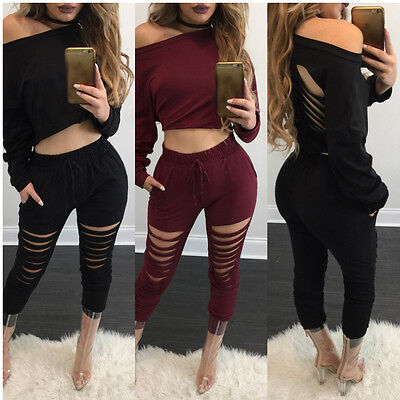 Women Ladies Long Sleeve Clubwear Playsuit Party Jumpsuit&Romper Long Trousers
