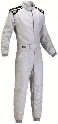 FIA OMP First-S Race Suit SILVER race rally CHEAP DELIVERY NEW 2017