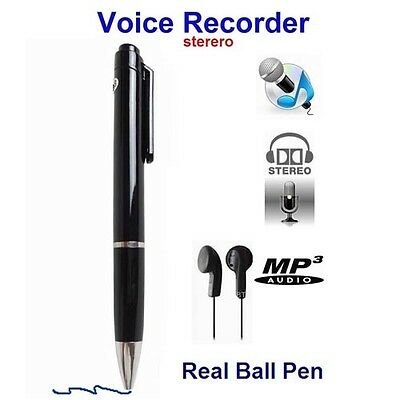 New Super Sensitive Microphone Audio Spy Voice Recorder In Real Ballpoint Pen