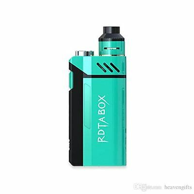Original Genuine IJoy RDTA Box 200W Mod Kit Vap Tank 12.8ml Authentic Blue