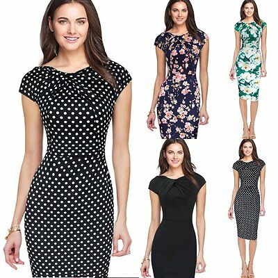 Women Bandage Bodycon Formal Work Evening Sexy Party Cocktail Pencil Mini Dress