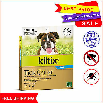 Kiltix Water Resistant Flea and tick treatment Collar by Bayer For Dogs