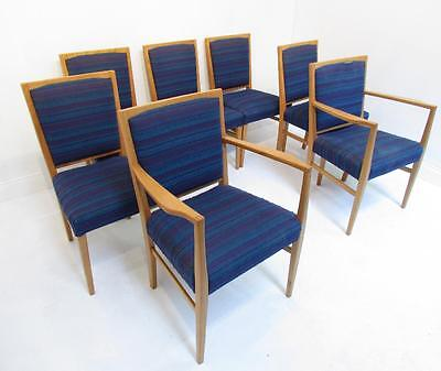 A Good Set of Six Gordon Russell Retron Owl Ash Dining Chairs