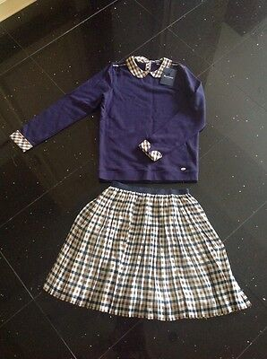 Aquascutum top and skirt outfit / set age 11-12