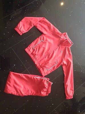 Genuine Lacoste Girls track suit size 14- 164 cm ,but small size see the details