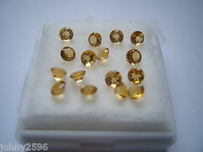citrine loose gemstone,4mm round cut,£1.50p each.