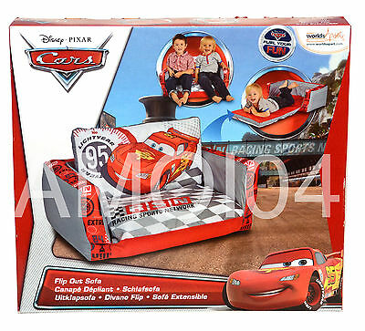 Disney Cars Kids Boys Inflatable Flip Out Sofa Couch  - 2 Seater *New