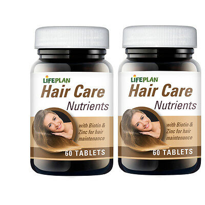 Lifeplan Hair Care Nutrients 120 Tablets (2 x 60)  - with Biotin and Zinc