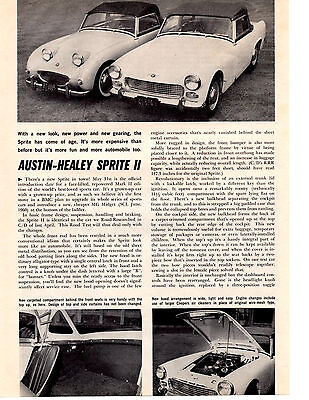 1961 Austin-Healey Sprite Ii   ~  Original 2-Page Road Test / Article / Ad