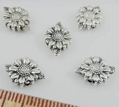 Free Ship 50Pcs Tibetan Silver Flower Spacer Beads Jewellery Findings 13x9mm