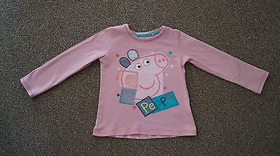 Baby Girls Next Peppa Pig Long Sleeved Top, size: 18- 24 months
